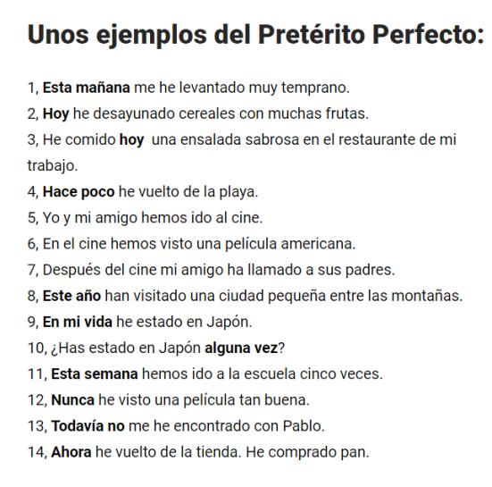traducciones pretèrit perfet